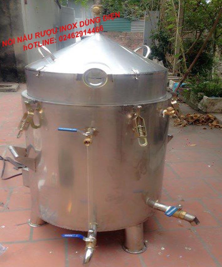 Nồi Nấu Rượu Bằng Điện 30 Kg Gạo Inox Toàn Bộ VinSun