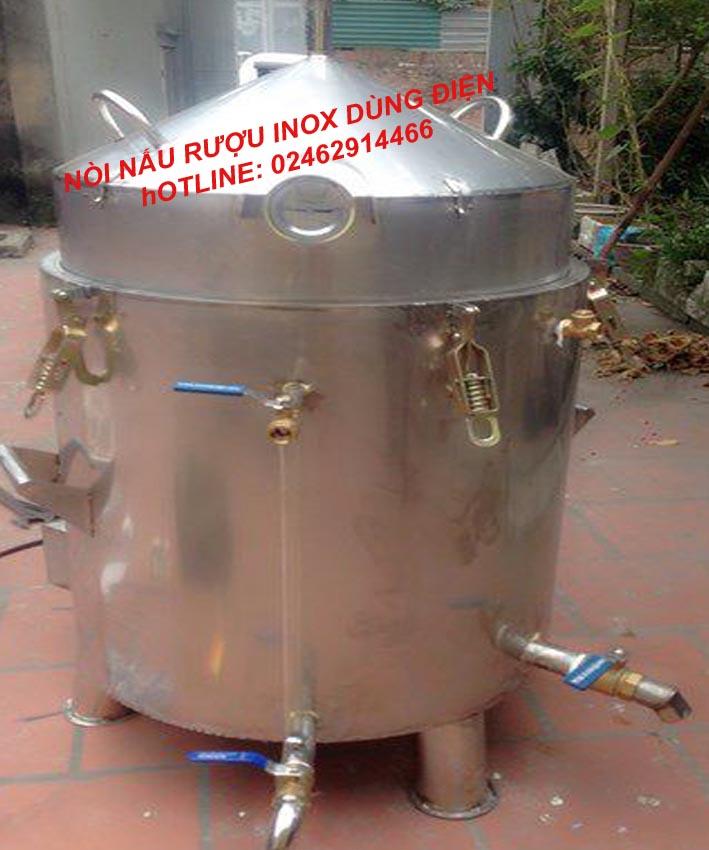 Nồi Nấu Rượu Bằng Điện 20 Kg Gạo Inox Toàn Bộ VinSun
