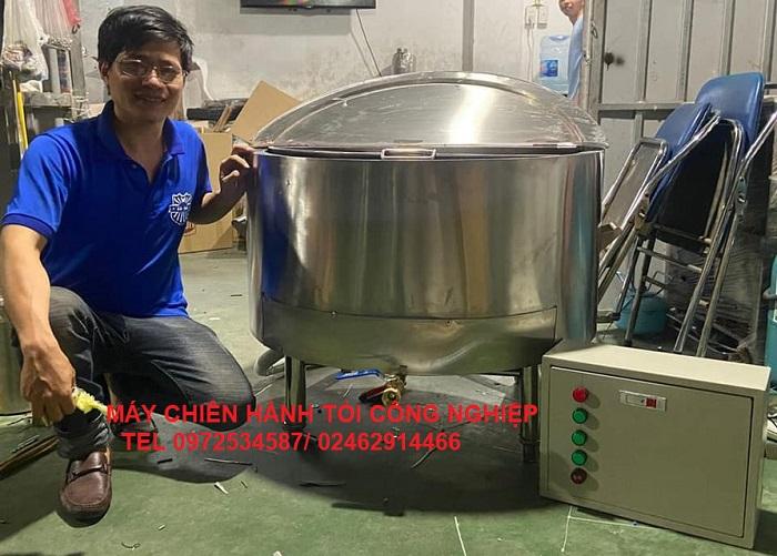 Máy Chiên Hành Tỏi 180 Lít Dùng 15 Kg Thực Phẩm