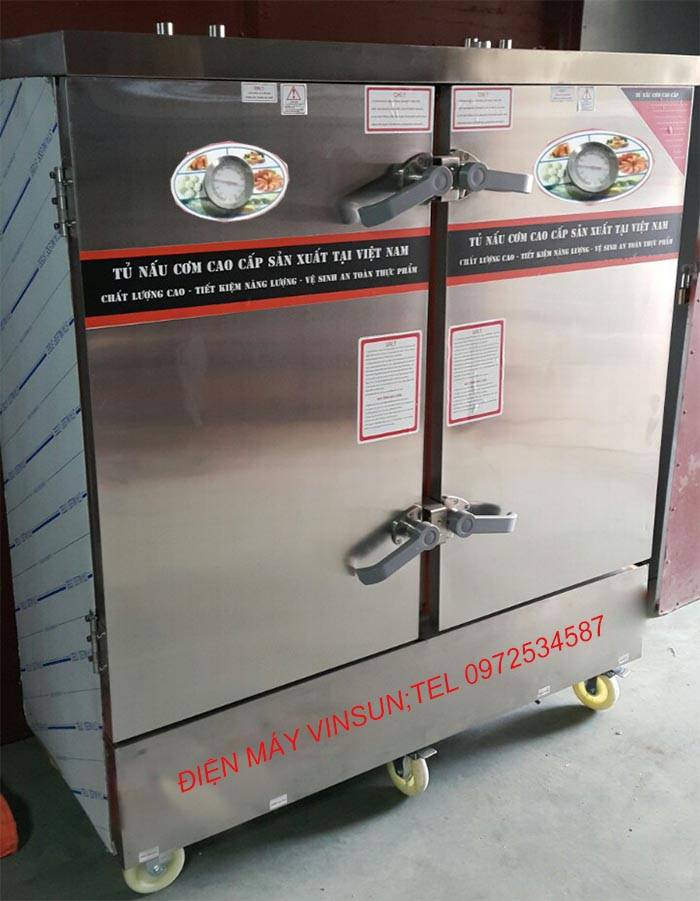 Tủ Nấu Cơm Điện 24 Khay Việt Nam nấu đến 100 kg gạo