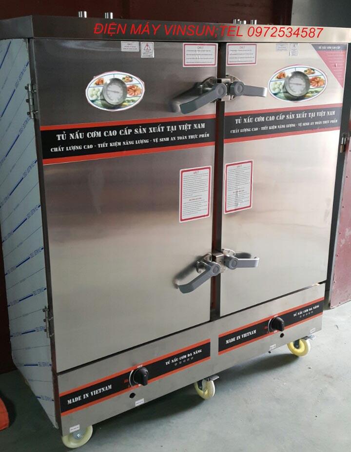 Tủ Cơm Gas Điện 24 Khay Việt Nam Nấu 100 Kg Gạo