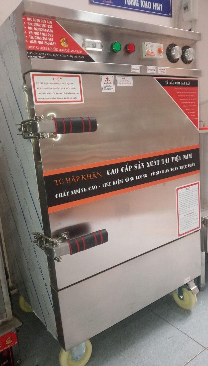 Tủ hấp khăn 200 chiếc điện tự động