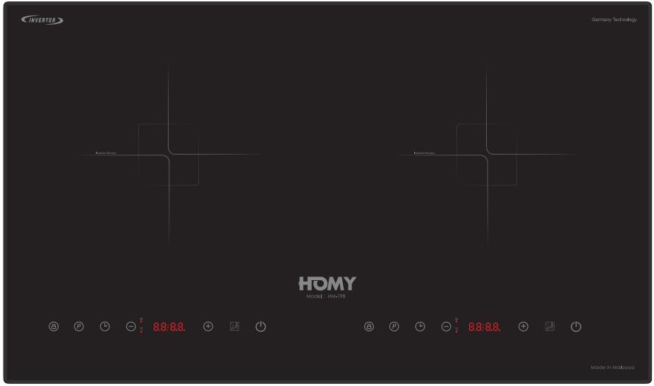 Bếp Từ Homy HD198 Tại Điện Máy VinSun Tặng Máy Hút Mùi Và Bộ Nồi Inox Cao Cấp