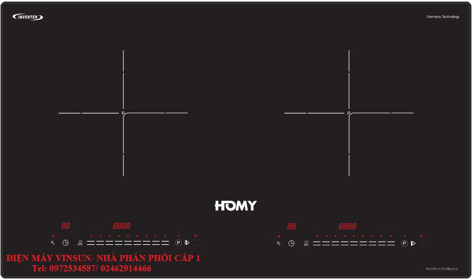 Bếp Từ Homy HD199 Tại Điện Máy VinSun Tặng Máy Hút Mùi Và Bộ Nồi Inox Cao Cấp